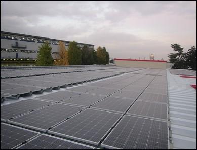 工場屋上(自家消費太陽光発電所)