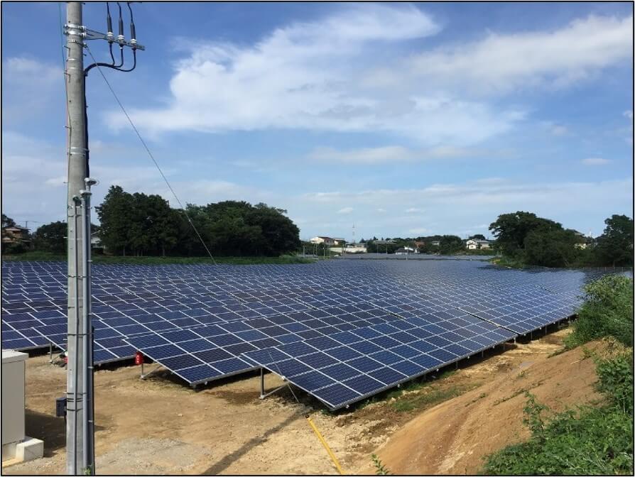 茨城県常盤市太陽光発電所